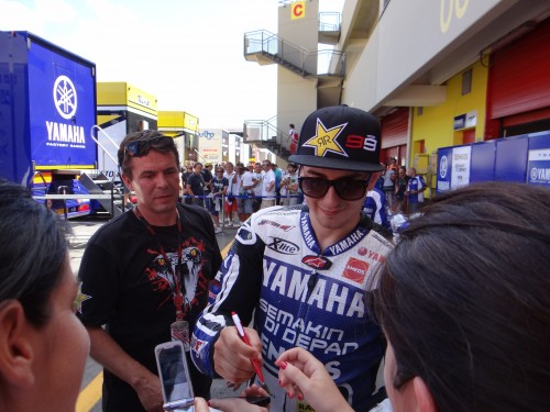 Joge Lorenzo,Yamaha M1,motogp,Mugello 2012,autografi,fan,vincitore gara
